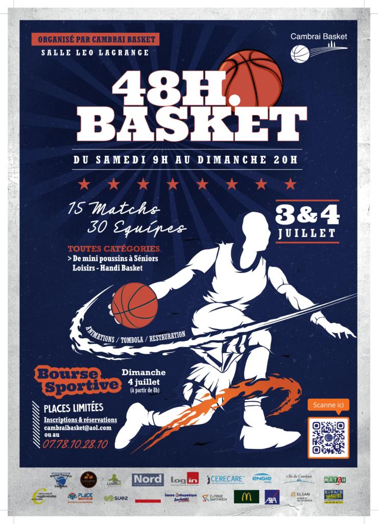Affiche 48h Cambrai Basket